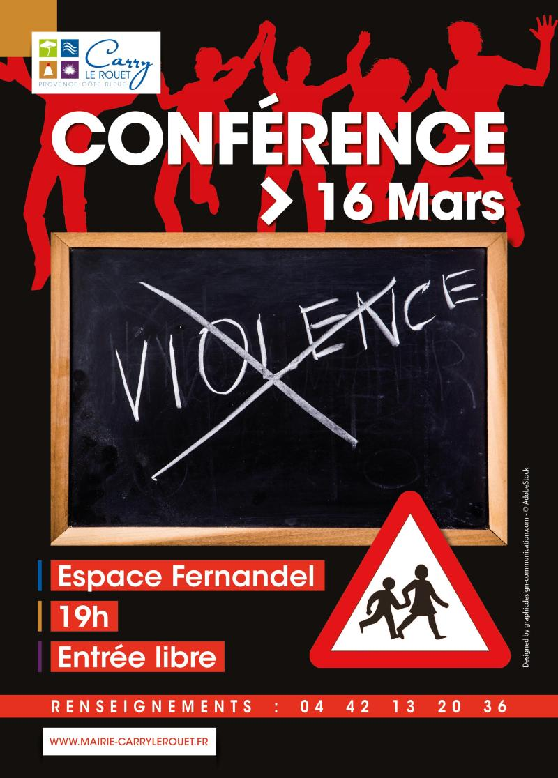 Affiche conf violence 16 mars
